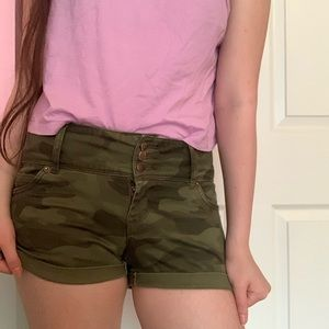 Green Camouflaged shorts